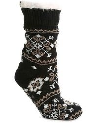 BEARPAW Nordic Slipper Socks - Black