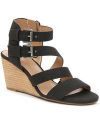 Crown Vintage Carlotta Wedge Sandal - Black