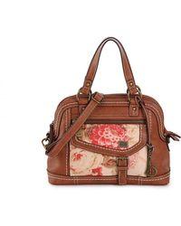 b.ø.c. Amherst Floral Shoulder Bag - Brown