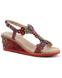 Spring Step Wellesta Wedge Sandal - Red