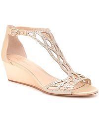Imagine Vince Camuto Jalen Wedge Sandal - Metallic