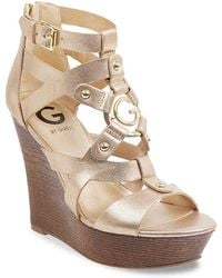 G by Guess - Dodge Wedge Sandal - Lyst