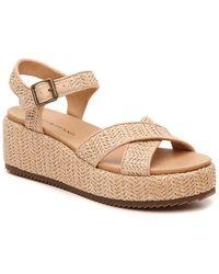 Lucky Brand Wagoo Wedge Sandal - Natural