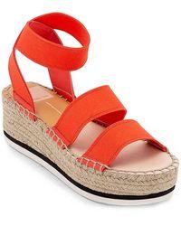 Dolce Vita Lury Espadrille Wedge Sandal - Red