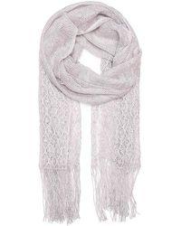 Betsey Johnson   Metallic Crochet Wrap Scarf   Lyst