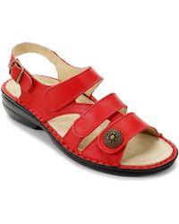 David Tate Wonder Sandal - Red