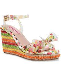 Betsey Johnson Elektra Wedge Sandal - Multicolor