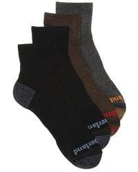 Timberland Cushioned Ankle Socks - Black