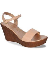 Italian Shoemakers Tamieka Wedge Sandal - Natural