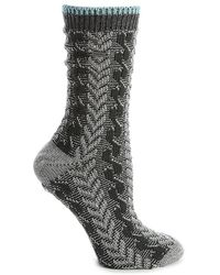 Sorel Cable Knit Crew Socks - Gray