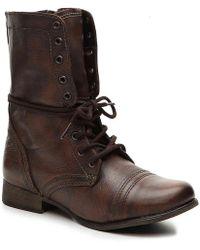 Steve Madden Troopa Combat Boot - Brown