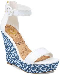 G by Guess - Donny Wedge Sandal - Lyst