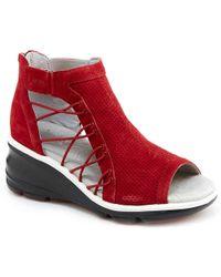 Jambu Naomi Wedge Sandal - Red
