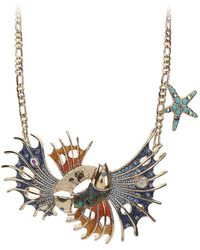 Betsey Johnson - Fish Bib Necklace - Lyst