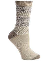 Sorel Textured Stripe Crew Socks - Brown
