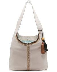 The Sak Huntley Leather Hobo Bag - Gray