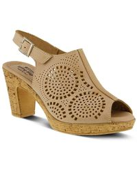 Spring Step Liberty Platform Sandal - Natural