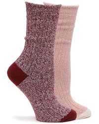 Kelly & Katie Soft Polytam Marled Crew Socks - Pink