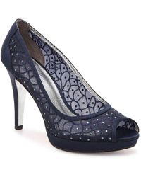 Adrianna Papell 'foxy' Crystal Embellished Peeptoe Pump (women) - Blue