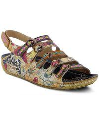 Spring Step Taffyta Wedge Sandal - Multicolor