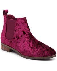 TOMS Ella Chelsea Boot - Red