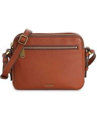 Fossil Piper Leather Crossbody Bag - Brown
