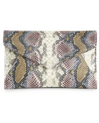 Urban Expressions Snake Clutch - Gray