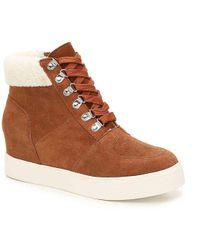 Steve Madden Lakes Wedge Sneaker - Brown