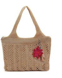 The Sak Crochet Shoulder Bag - Metallic