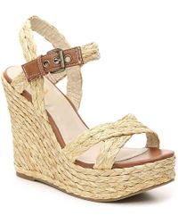 MIA Leila Espadrille Wedge Sandal - Brown