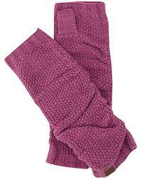 Keds Knit Arm Warmers - Purple