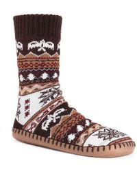 Muk Luks - Sock Slipper - Lyst