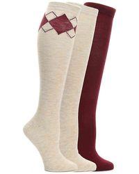 Nine West Argyle Knee Socks - Multicolor