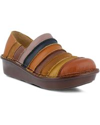 Spring Step Firefly Wedge Slip-on - Brown