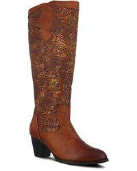 Spring Step Lassale Western Boot - Brown
