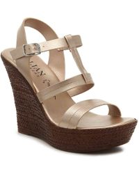 Italian Shoemakers - Sammy Wedge Sandal - Lyst
