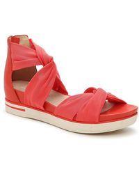 Eileen Fisher Zanta Wedge Sandal - Red