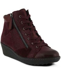 Spring Step Lilou Wedge Bootie - Multicolor