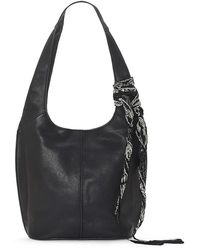 Lucky Brand Clyo Leather Hobo Bag - Black