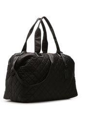 Steve Madden Quilted Weekender Bag - Black