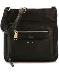 Perlina - Clare Leather Crossbody Bag - Lyst