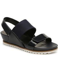 Vaneli Hayley Wedge Sandal - Blue