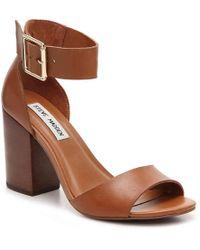 deef223b9d7 Lyst - Steve Madden  estoria  Ankle Strap Sandal in Brown