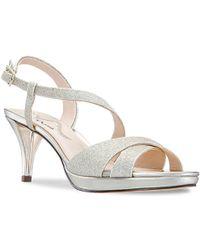 Nina Nazlee Platform Sandal - Metallic