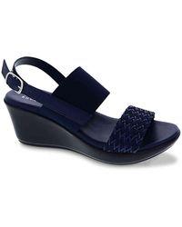 Italian Shoemakers Jaqui Wedge Sandal - Blue