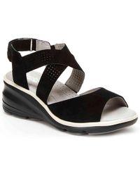 Jambu Lilly Wedge Sandal - Black