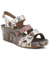 Spring Step Prosperity Wedge Sandal - Multicolor