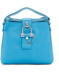 Vince Camuto Javi Leather Crossbody Bag - Blue