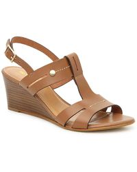 Coach and Four Prato Wedge Sandal - Brown