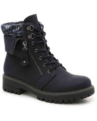 White Mountain Footwear Mandy Bootie - Blue